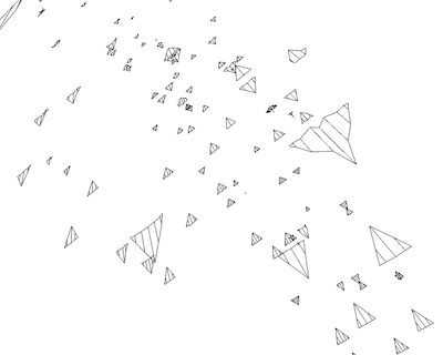 Explorational data visualization with generated airplanes