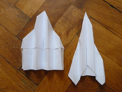 Generated paper airplanes