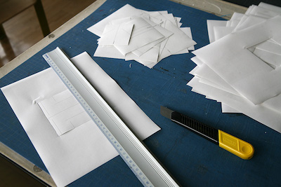 Blueprints of the paper airplanes